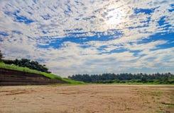美好的云彩形成 库存图片
