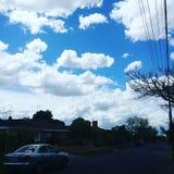 美好的云彩形成 免版税库存照片