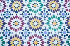 美好的五颜六色的摩洛哥马赛克样式 免版税图库摄影