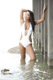 美好的亚洲泳装模型 免版税库存照片