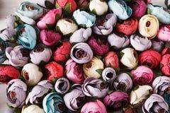 美好的人造花品种 库存照片
