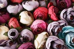 美好的人造花品种 图库摄影