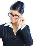 美好的企业微笑的妇女 免版税图库摄影