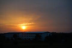美好的例证草甸本质正春天晴朗的日出 免版税库存照片