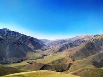 美好的俄国山风景 库存照片