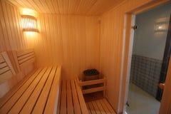 美好的俄国木蒸汽浴 免版税库存照片