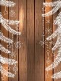 美好的假日设计的自然装饰 图库摄影