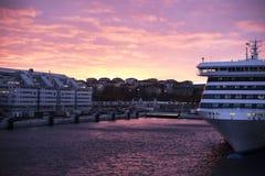 美好的光在斯德哥尔摩 库存图片