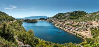 美好的克罗地亚风景 库存照片