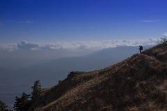 美好的全景山风景 免版税库存照片