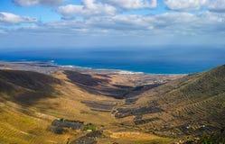 美好的兰萨罗特岛海岛风景,金丝雀,西班牙 库存照片