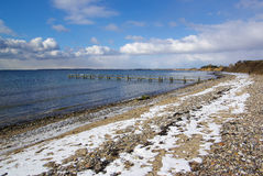 美好的冬天自然海景 免版税库存照片