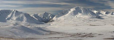 美好的冬天风景,阿尔泰山俄罗斯 免版税库存照片