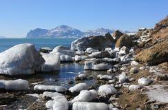 美好的冬天风景 库存图片