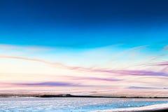 美好的冬天风景 图库摄影