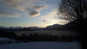 美好的冬天黎明 免版税库存照片
