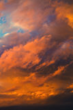 美好的剧烈的冬天cloudscape 库存图片