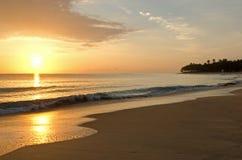 美好的加勒比日出 免版税库存照片