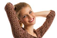 年轻美好的十几岁的女孩跳舞 免版税库存图片