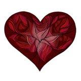美好的华伦泰心脏设计,明信片 库存照片