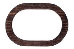 美好的单件木卵形框架,隔绝在白色背景 库存照片