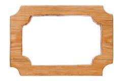 美好的单件木被雕刻的框架,隔绝在白色背景 自然样式, 免版税库存照片