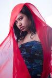 美好的印地安女性模型关闭面孔 图库摄影