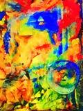 美好的原始的水彩绘画 免版税库存照片