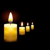 美好的发光的蜡烛的例证与熔化蜡的,适用于万圣夜假日eps10 免版税库存图片