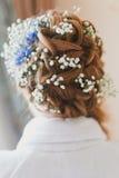 美好的发型婚礼 免版税库存照片