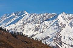 美好的喜马拉雅山峰顶 免版税图库摄影