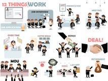 美好的图形设计套企业工作条件 库存图片