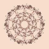 美好的圆样式的花卉 图库摄影