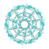 美好的圆样式的花卉 向量例证