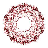 美好的圆样式的花卉 库存图片