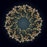 美好的圆样式的花卉 免版税库存图片