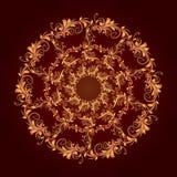美好的圆样式的花卉 免版税库存照片