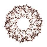 美好的圆样式的花卉 免版税图库摄影