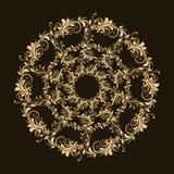 美好的圆样式的花卉 库存照片