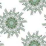 美好的圆花卉无缝的样式 装饰圆的鞋带样式,传染媒介例证 在a的百花香 免版税图库摄影