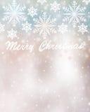美好的圣诞卡背景 图库摄影