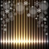 美好的圣诞灯背景 库存照片