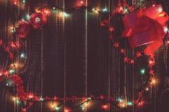美好的圣诞节假日背景 库存图片