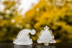 美好的圣诞节冰装饰形象 概念新年度 库存图片