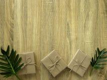 美好的圣诞节节日礼物购物背景 库存图片