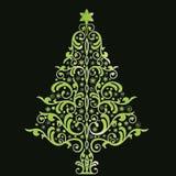 美好的圣诞节风格化结构树 图库摄影
