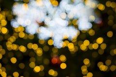 美好的圣诞节defocused bokeh光 免版税库存照片