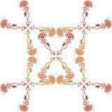 美好的在白色的传染媒介花卉样式 设计的无缝的印刷品 图库摄影