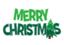 美好的在背景的字法圣诞快乐 免版税库存照片