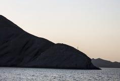 美好的在部分照片的鸟杂种例证左山腾飞日落 克里米亚 免版税库存照片
